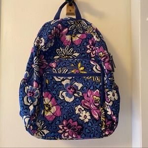 Floral Pattern Vera Bradley Backpack